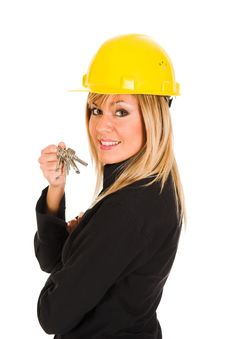 Free A Businesswoman With Keys Royalty Free Stock Photos - 1589858