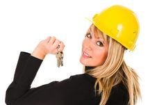 Free A Businesswoman With Keys Stock Photo - 1589900