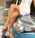 Free Girl On The Car Hood Royalty Free Stock Photos - 15801388