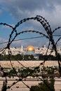 Free Jerusalem Through Razor Wire Royalty Free Stock Photo - 15802725