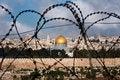 Free Jerusalem Through Razor Wire Stock Photos - 15803263