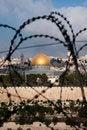 Free Jerusalem Through Razor Wire Stock Photo - 15803310