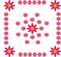 Free Pinky Flowery Frame Royalty Free Stock Photography - 15807787