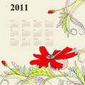 Free Template For Calendar 2011 Stock Image - 15809891