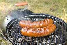 Free Two Grilled Sausages Royalty Free Stock Photos - 15800148