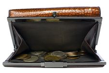 Wallet With Russian Coins | Isolated Royalty Free Stock Photo