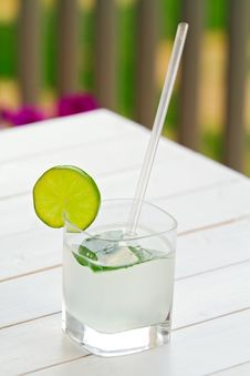 Free Glass Of Lime Juice Royalty Free Stock Photo - 15801785