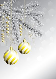 Free Golden Christmas Balls Royalty Free Stock Images - 15801909