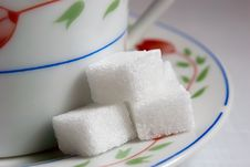Sugar Lump Sugar. Royalty Free Stock Photography