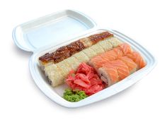 Free Sushi And Rolls. Royalty Free Stock Photo - 15802975