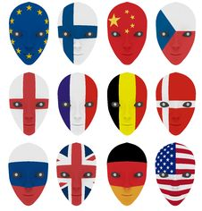 Free Mask Painted With A Flag Stock Photo - 15803000