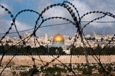 Free Jerusalem Through Razor Wire Stock Photos - 15803263