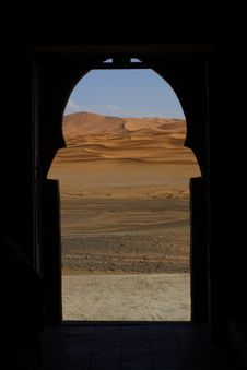 Free View On Sahara Desert Through Window Stock Images - 15803514