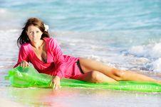 Free Beautiful Woman On Beach Royalty Free Stock Image - 15803936