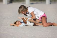 Free Mother And Son On Beach Royalty Free Stock Photo - 15803985