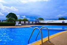 Free Swimming Pool And Ladder Royalty Free Stock Photo - 15804435