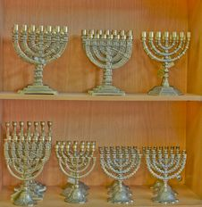 Free Menorah . Stock Photography - 15806192