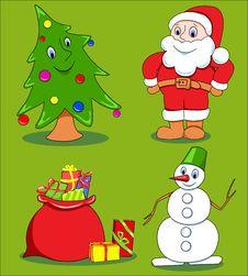 Free Christmas Cartoon Set. Stock Photo - 15806660