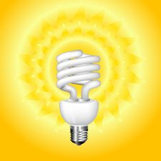 Free Economical Sunny Bulb Vector Illustration Royalty Free Stock Photography - 15806777