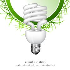 Free Economical Bulb Vector Illustration Royalty Free Stock Photos - 15806778