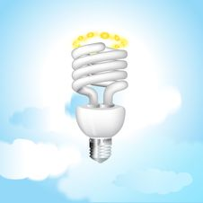 Free Economical Sunny Bulb Vector Illustration Stock Photography - 15806782
