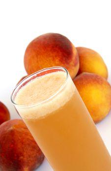 Free Organic Peach Juice Royalty Free Stock Photos - 15807168