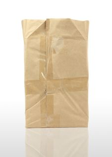 Free Brown   Paper Bag On White Background Stock Photos - 15807483