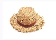 Free Antique   Straw Hat, White Background Stock Images - 15807514