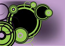 Green And Purple ,circle Decoration Royalty Free Stock Image