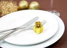 Free Christmas Dinner Royalty Free Stock Photography - 15807967