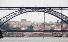 Free Famous Steel Bridge In Porto(Portugal) Stock Photo - 15808220