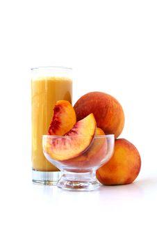 Free Organic Peach Juice Royalty Free Stock Photo - 15808315