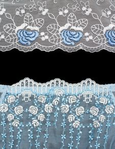 Collage Lace With Blue Pattern Stock Photo