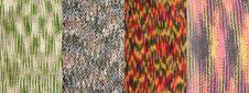Free Collage From Four Knitted Backgrounds Stock Image - 15808421