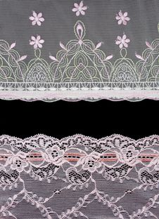 Free Collage Lace With Pattern On Black Background Stock Photography - 15808512