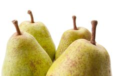 Four Pears Stock Photos