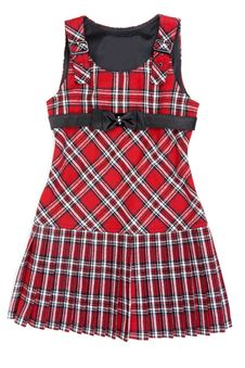 Free Plaid Red Feminine Gown Royalty Free Stock Photography - 15808647