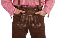Free Bavarian Man With Oktoberfest Leather Trousers Royalty Free Stock Images - 15809279