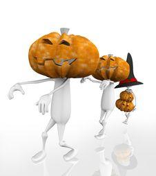 Free 3d Zombie Halloween Stock Image - 15809831