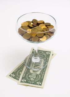 Free Cocktail From Money Stock Photo - 15809970