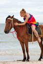Free Horse Riding On The Beach Royalty Free Stock Images - 15817039
