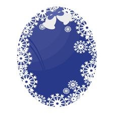 Free Frame With Snowflakes Stock Photography - 15810112