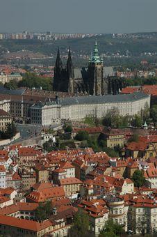 Free Prague Castel Top View Royalty Free Stock Photo - 15811005