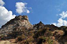 Rock In The Crimean Mountains On Ukraine Royalty Free Stock Images