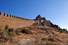 Fortress Wall Royalty Free Stock Image