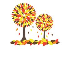 Colorful Autumn Tree. Vector Illustration Royalty Free Stock Image