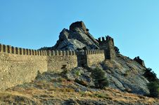 Age-old Fortress Wall Royalty Free Stock Images