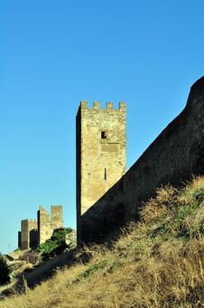 Free Tower Of The Genoese Fortress Royalty Free Stock Image - 15811416