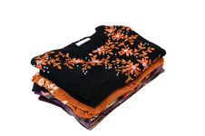 Free Stylish Colorful Sweaters And Blouses On A White. Stock Photography - 15811832