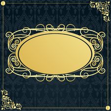 Free Gold Frame In Vintage Style Stock Images - 15812004